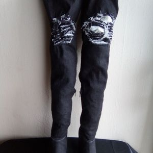 BAMBOO Ladies Thigh High Boots Size 7 1/2